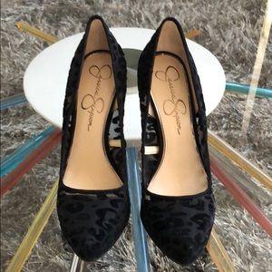 Jessica Simpson Leopard Mesh Heels